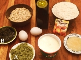 Alle Zutaten für die Quarkbrötchen mit Olivenblättertee auf einen Blick